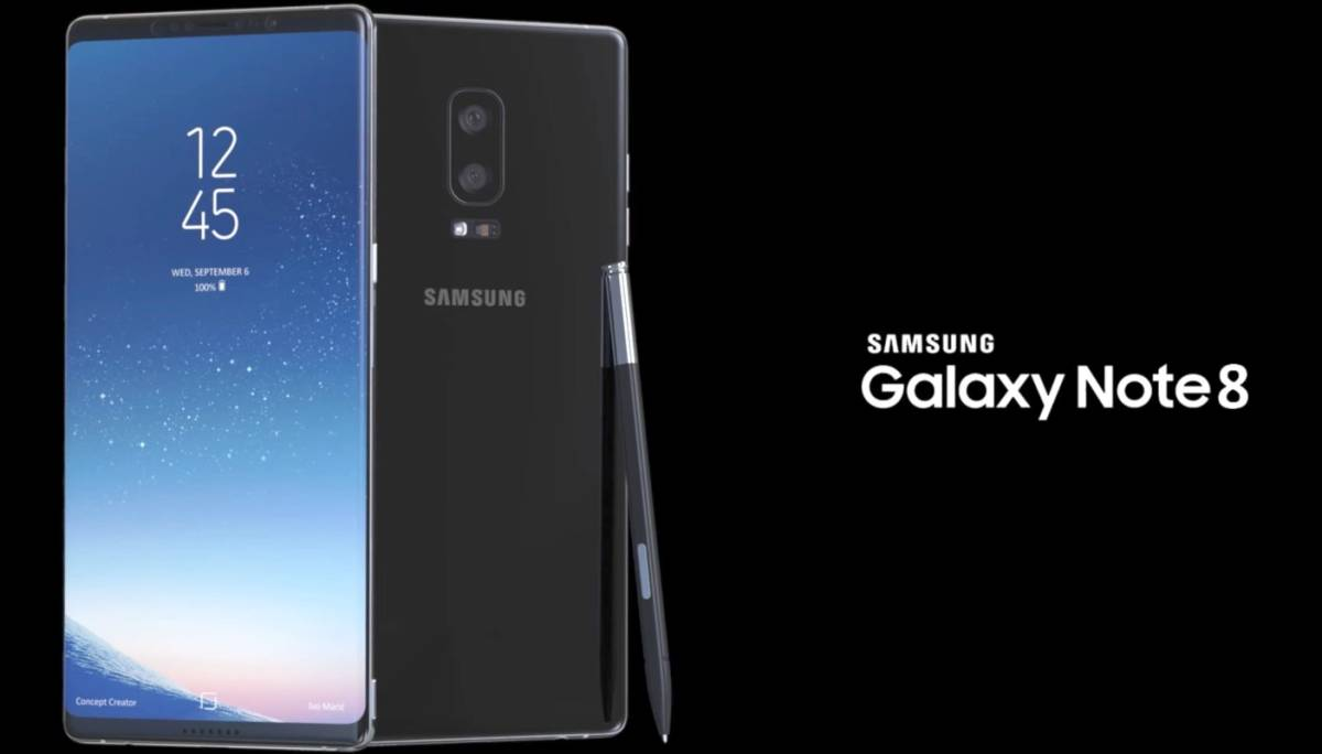 Galaxy Note 8 display leak