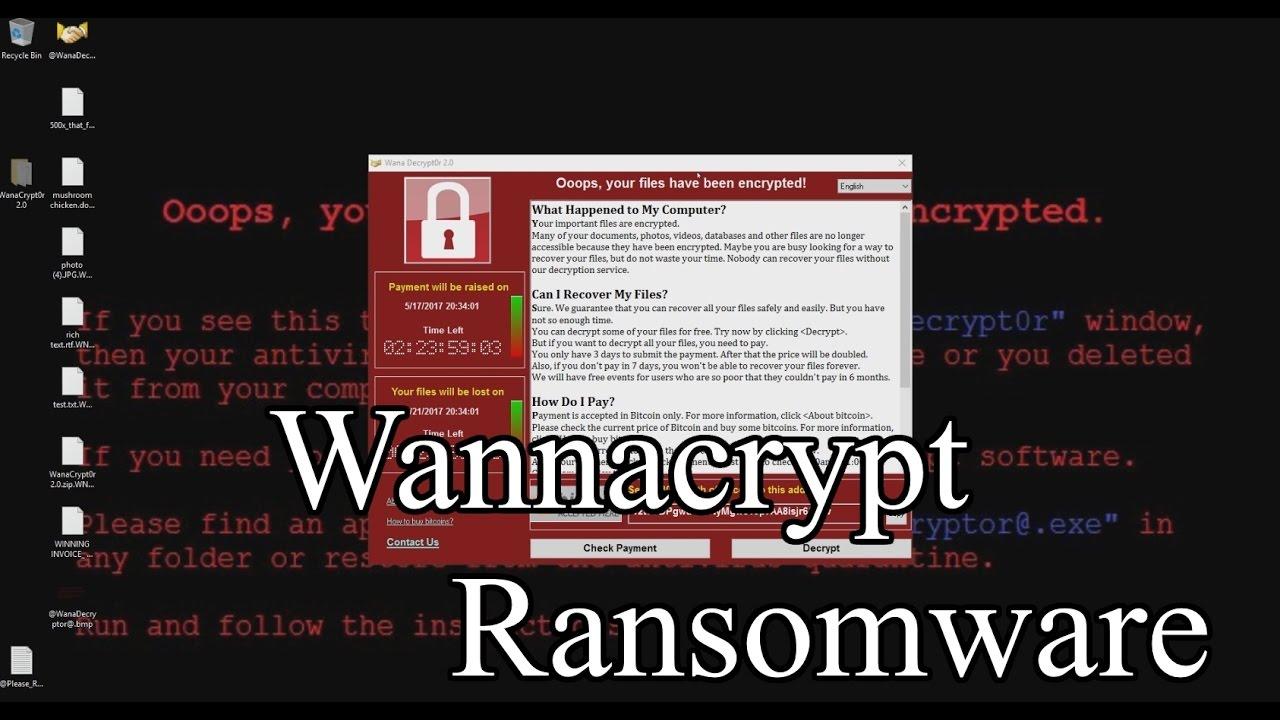 WannaCry ransomware malware