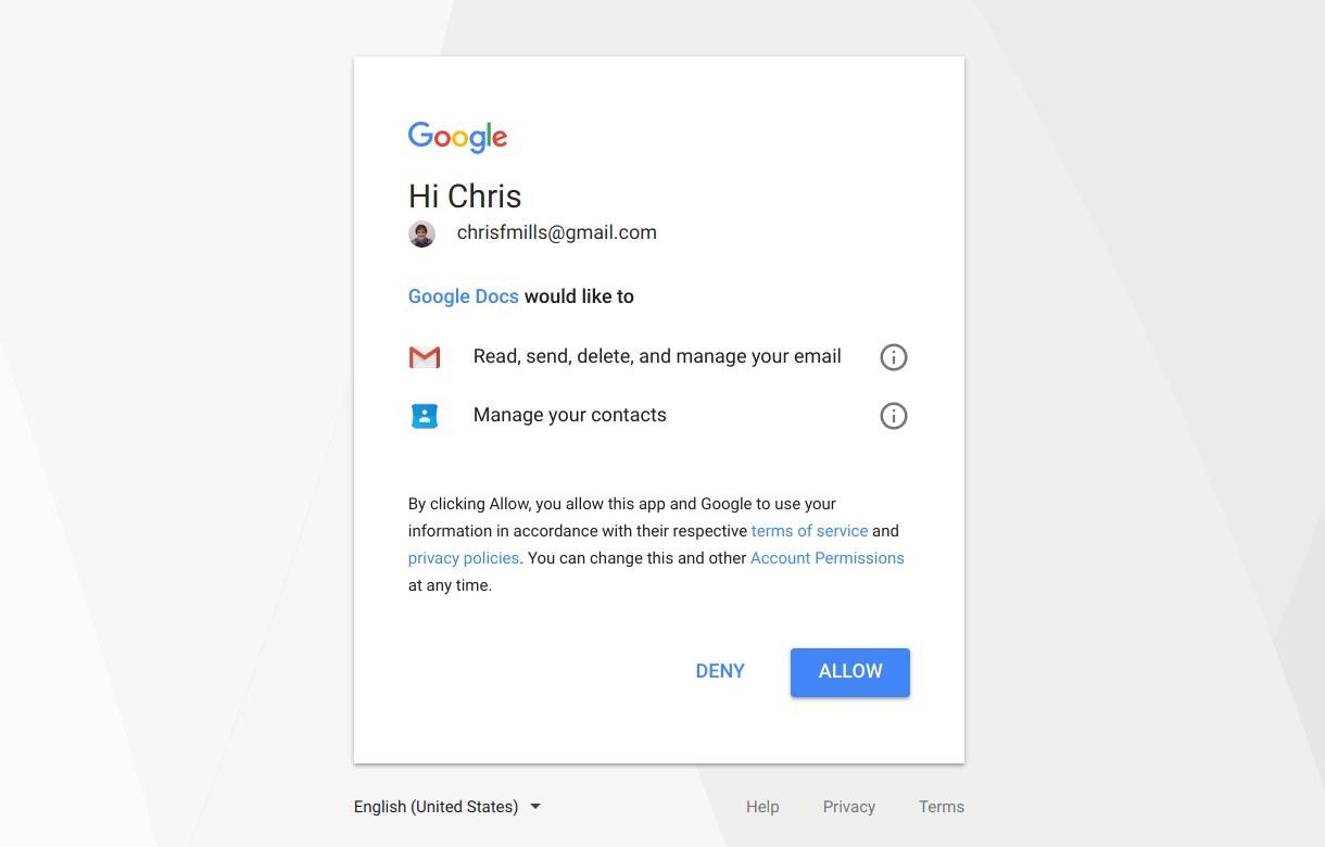 Google Docs phishing hack attack
