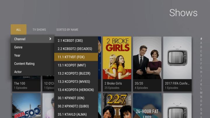 Plex Live TV streaming