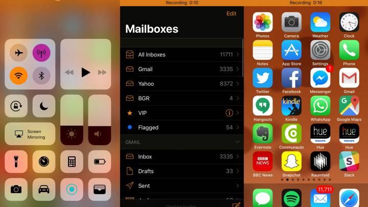 iOS 11 screenshots on iPhone and iPad