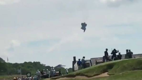 US Open Blimp Crash: Video