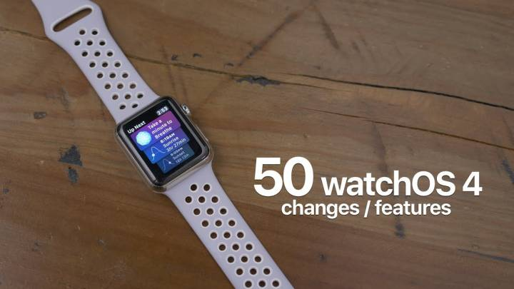 Watch OS 4 new features
