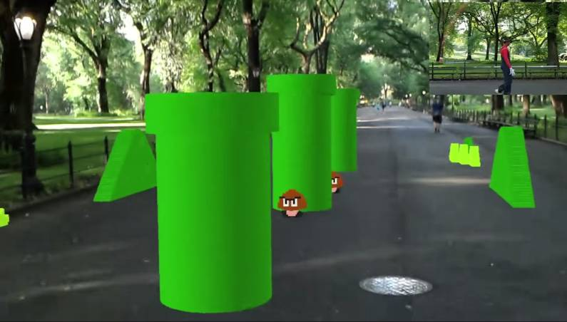Super Mario Bros. AR demo