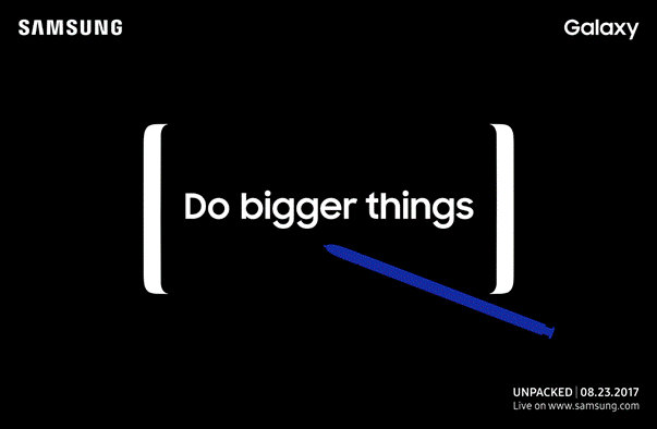 Samsung Galaxy Note 8 launch date is official
