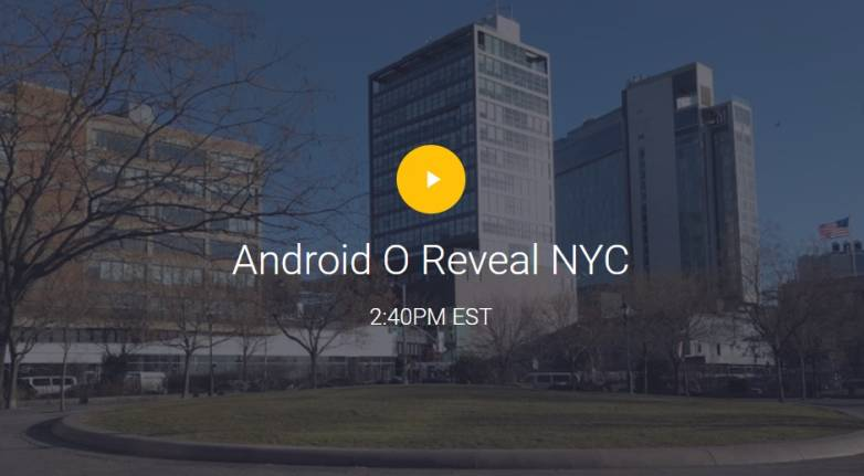 Android O live stream