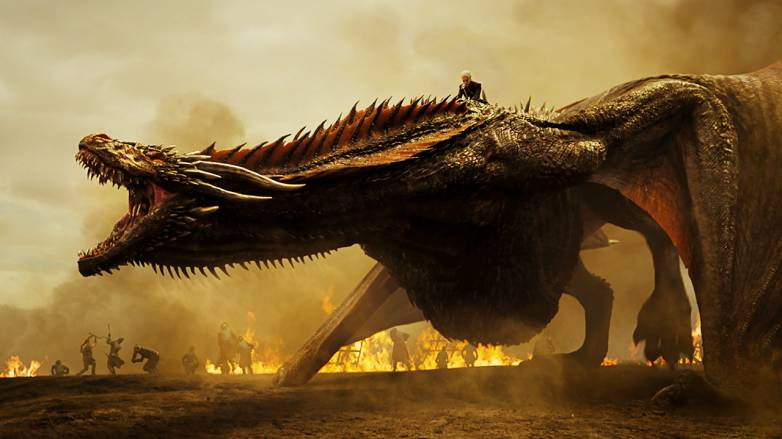 Game of Thrones Drogon Loot Train Battle