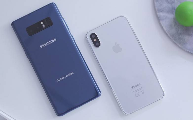 Galaxy Note 8 vs iPhone 8