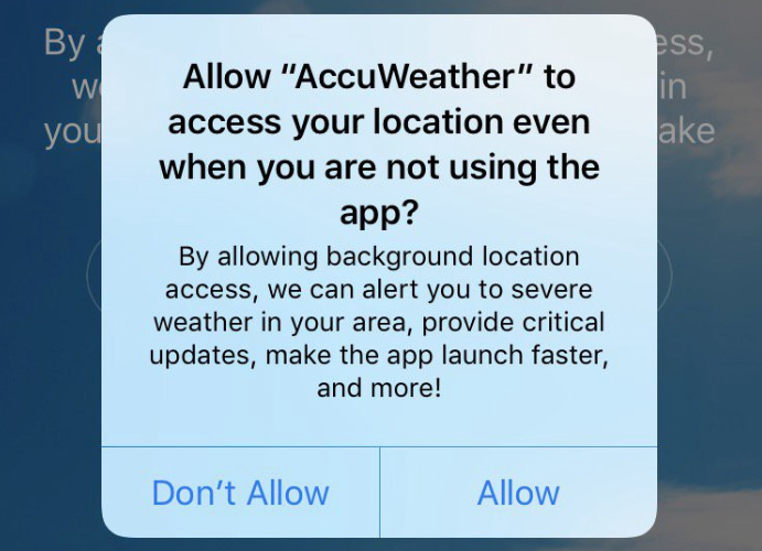 accuweather privacy