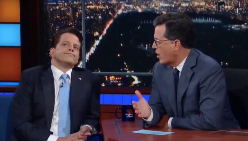 Stephen Colbert Anthony Scaramucci