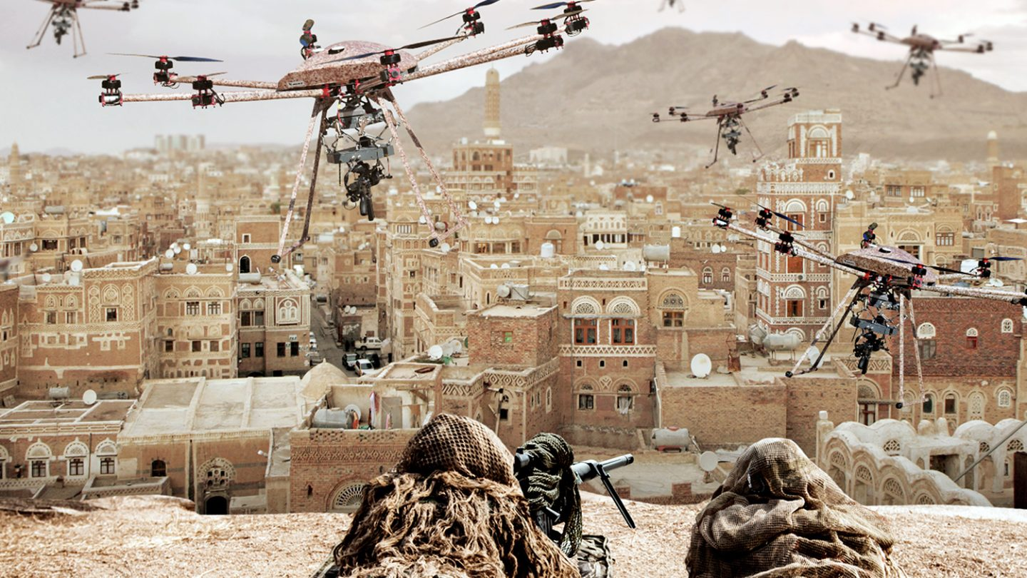 Military Drones With Guns