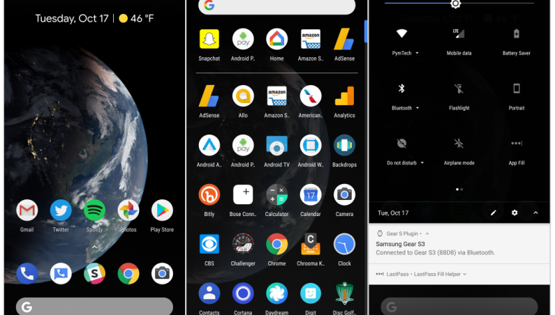 Android P Features Dark Mode