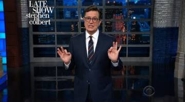 Colbert on Mueller indictments: watch here
