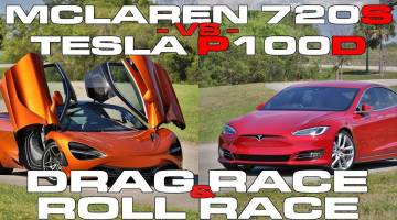 Tesla Model S drag race: P100D vs McLaren 720S