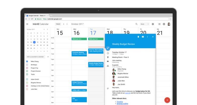 Google Calendar new design