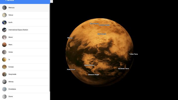 google maps planets