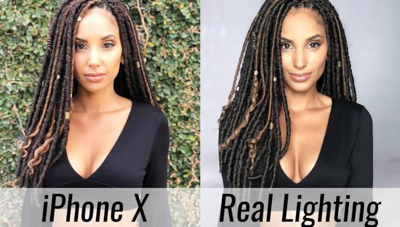 iPhone X studio lighting comparison