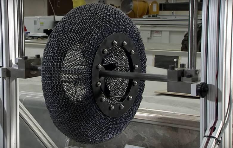 NASA airless tire with no flat