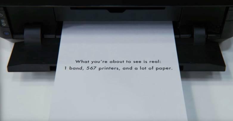 OK Go Obsession Printers Video