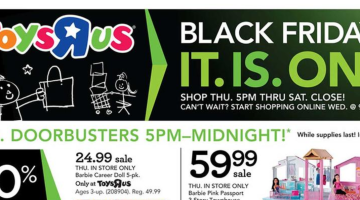 Toys R Us Black Friday 2017 ad flyer