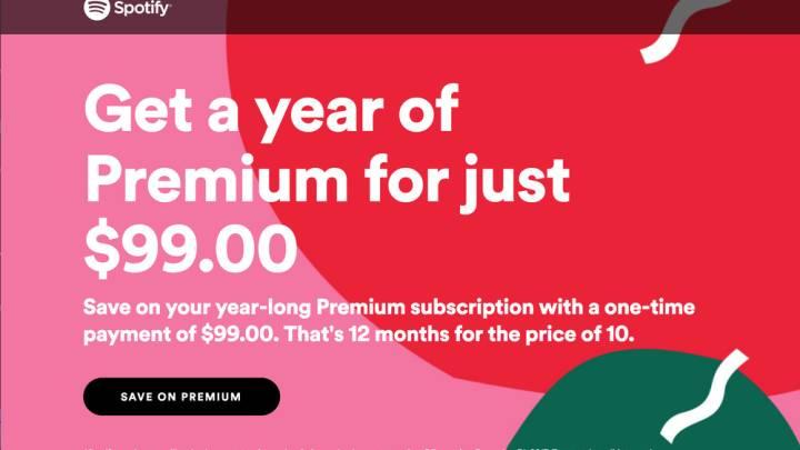 Spotify Premium discount: $20 off