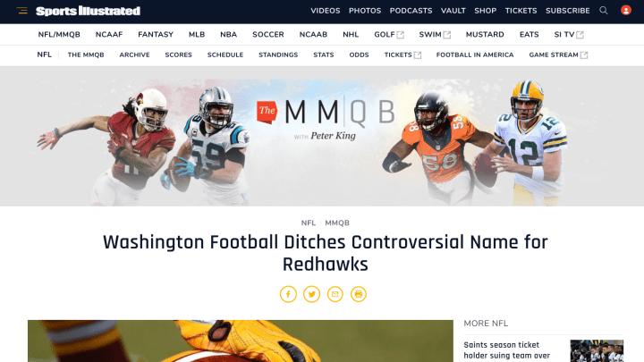 Redhawks, Redskins websites