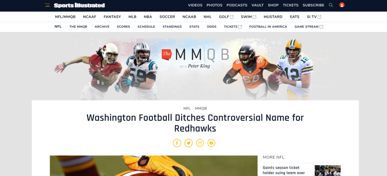 Redhawks, Redskins websites
