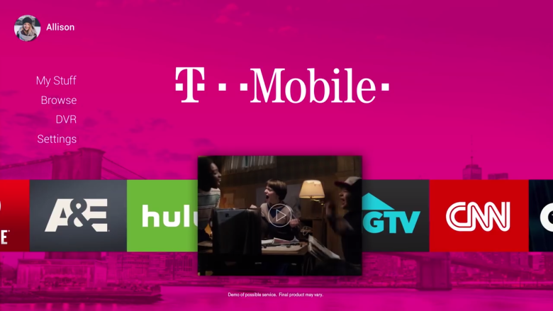 T-Mobile TV service coming 2018
