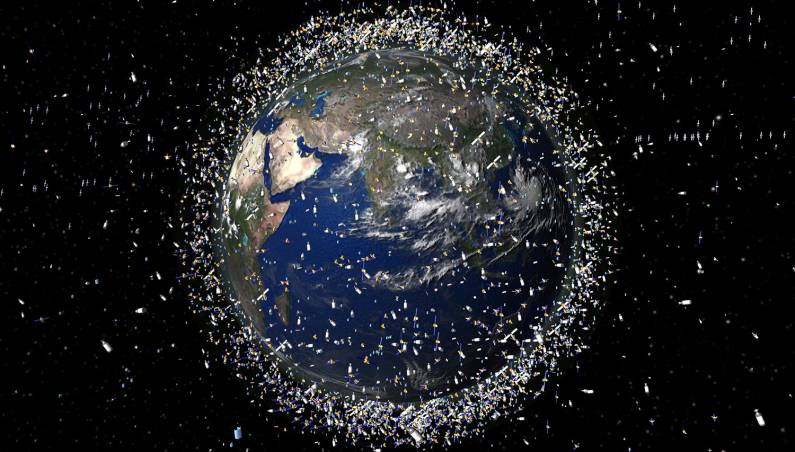 space junk harpoon