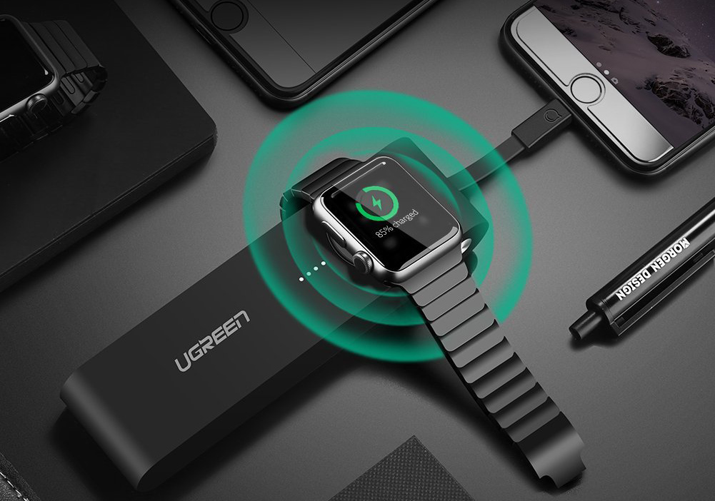 Apple Watch And iPhone Portable Charger