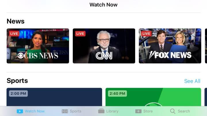 Apple TV app update
