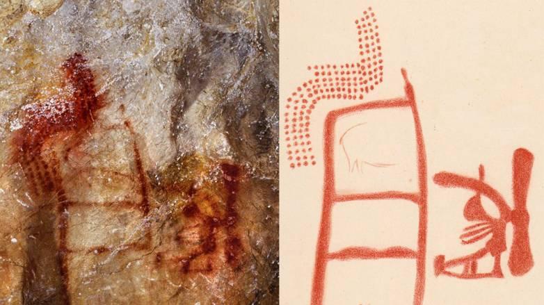neanderthal drawing