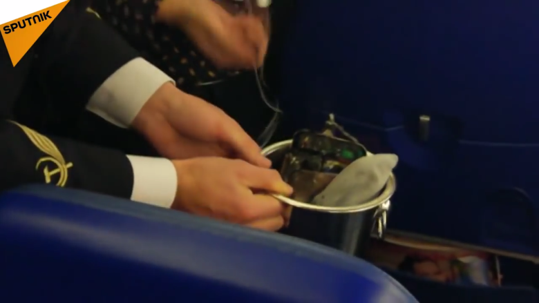 Phone charger explodes on airplane
