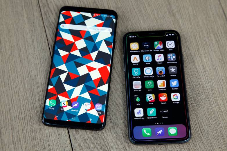 Galaxy S9 vs. iPhone X