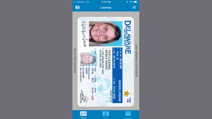 Mobile drivers license app
