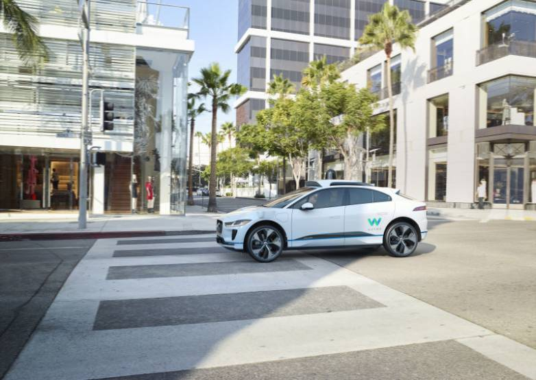 Waymo self-driving car jaguar iPace 2018
