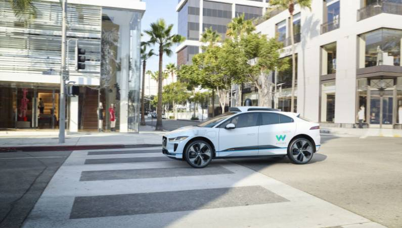 Waymo self-driving car jaguar iPace 2018