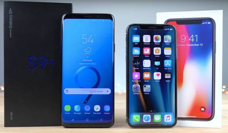 Galaxy S9 Plus vs. iPhone X Speed Test