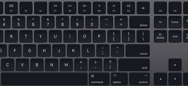 Apple event today: Space gray keyboard OMG!