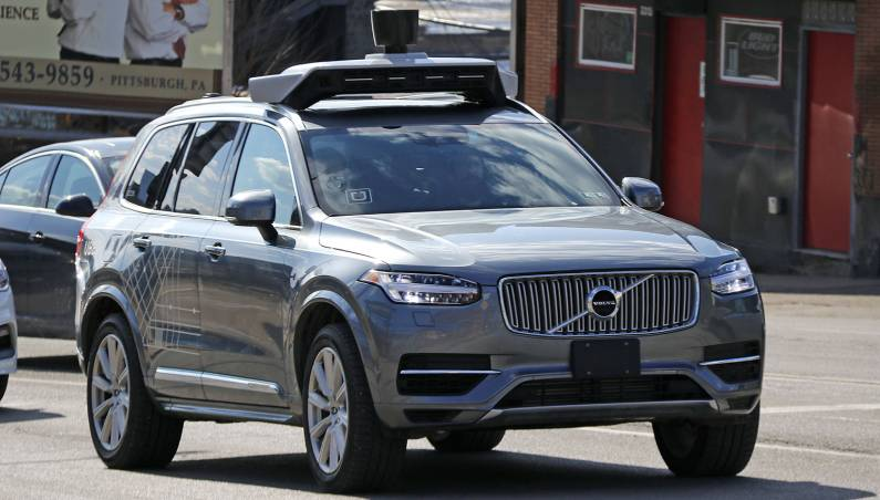 Uber self-driving car accident braking report