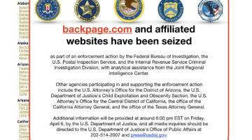 Backpage seized by FBI