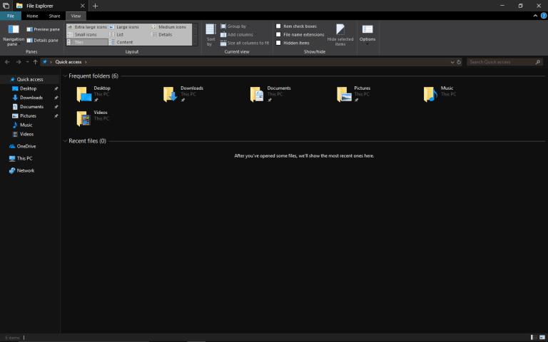 Windows 10 Dark Mode, File Explorer, how to