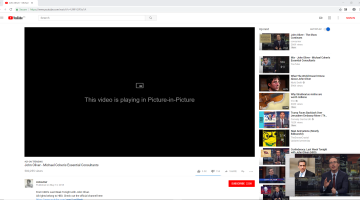 Google Chrome picture in picture how to video