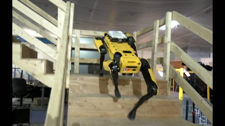 Boston Dynamics atlas robot spotmini dog videos