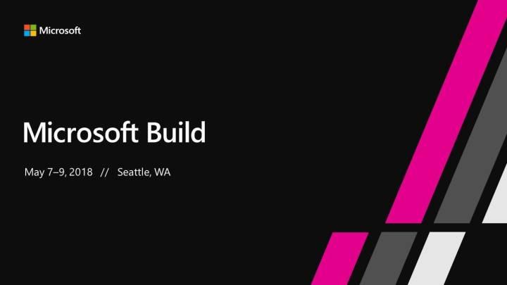 Microsoft Build 2018 live stream