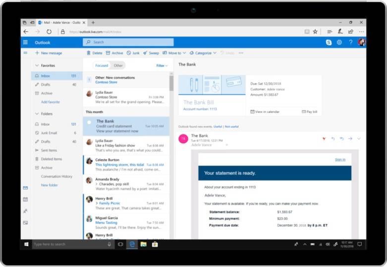 Microsoft Outlook 2018 Update