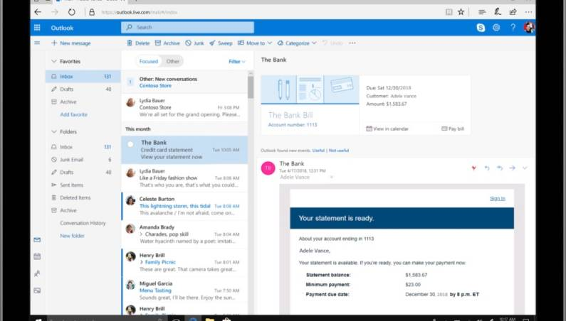 Microsoft Outlook 2018 Update