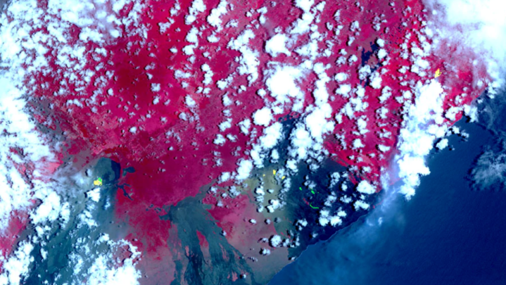kilauea from space