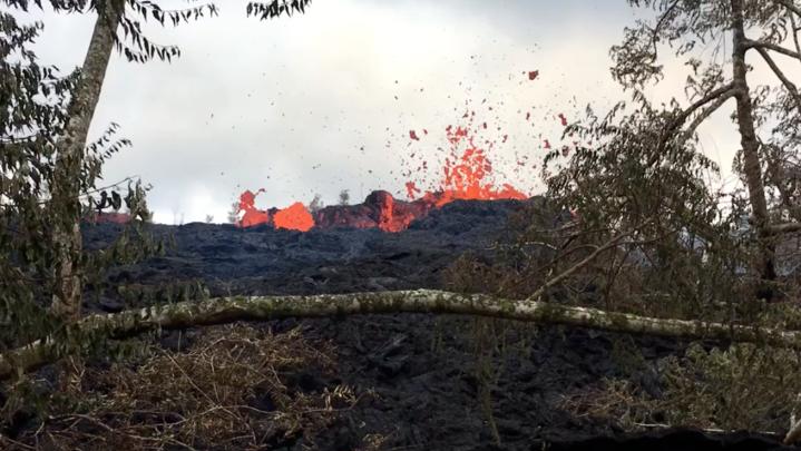 volcano drone video