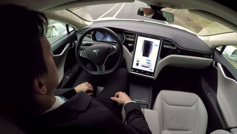 Tesla Autopilot hands on wheel sensors